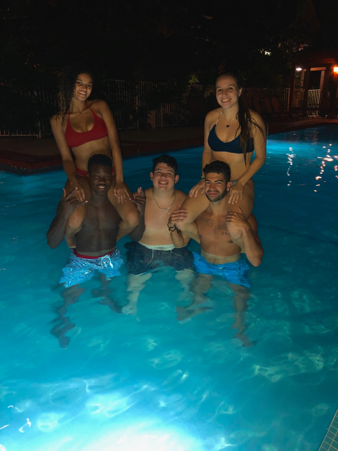 This picture is from my trip to Miami this summer. It was our last night together so we decided to sneak into a pool.