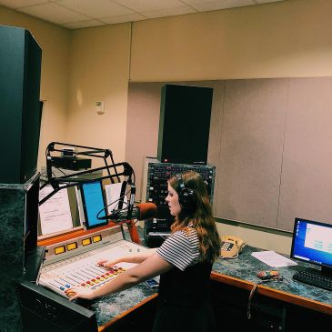 After all the hard work of making an hour long script, choosing music, and setting up her show, she can now do the show. Tea Time With Tracy is in the studio performing for her listeners on the Piedmont College Demorest campus.