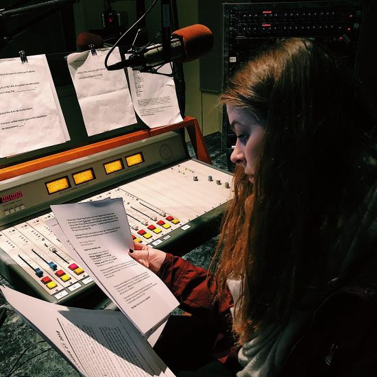 Before Marion can set up her equipment and music, she has to make a script for the show she is wanting to produce, which is Christmas themed. The script in a show is important because timing in a radio show is priority. Marion has to start at exactly 3p.m. and end at exactly 4p.m., so she needs to make sure her segments are timed perfectly.